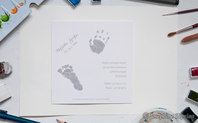 Rückseite Babykarte Josephine Ziprian
