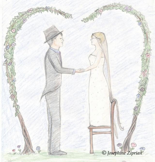 Hochzeitskarte Entwurf von Josephine Ziprian