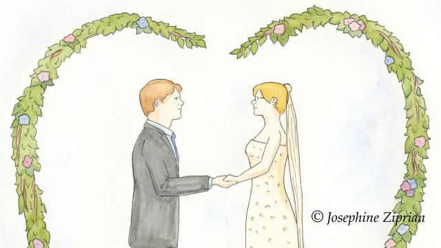 Hochzeitskarte Cover von Josephine Ziprian